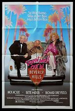 DOWN & OUT IN BEVERLY HILLS * CineMasterpieces 1SH ORIGINAL MOVIE POSTER 1986