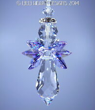 m/w Swarovski Crystal *ANGEL ZADKIEL* Violet Wing SunCatcher Lilli Heart Designs