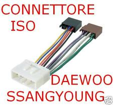 CONNETTORE CAVO ISO AUTORADIO DAEWOO SSANGYOUNG