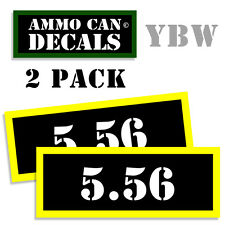 5.56 Ammo Label Decals Box Stickers decals - 2 Pack BLYW