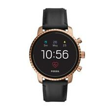 Mens Smartwatch FOSSIL EXPLORIST HR FTW4017 Leather Black Gold Rose Touchscreen