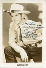 Country Singer Elton Britt Original Signed Postcard Star-Spangled Banner Rca
