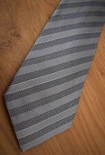 """Paul Smith """" Mainline """" Argent & violet points & cravate à rayure 100% soie 9cm"""