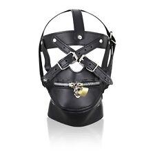 New Muzzle Restraint Extreme Zipped Mask Hood Muzzle for Fancy Dress G36