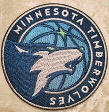 "Minnesota Timberwolves NBA 3.5"" Round Iron On Embroidered Patch~USA~FREE Ship"
