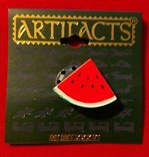 Watermelon Slice Seads Fruit Pin Brooch Jonette Jewelry Artifacts JJ NOS