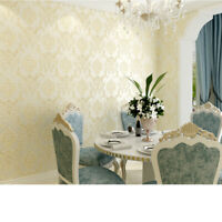 Self Adhesive Wallpaper Flower Beige Damask Film Contact Paper Christmas Decro