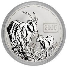 2015 $5 Reverse Proof 1 oz Silver Tokelau Goat