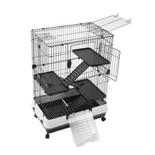 Paws & Claws Rabbit/Guinea Pig 2 Tier Pet Cage On Wheels 104x81cm Indoor/Outdoor