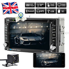 "2 DIN 6.2"" Car CD DVD Player Stereo Bluetooth GPS NAVI Radio Head Unit + Camera"