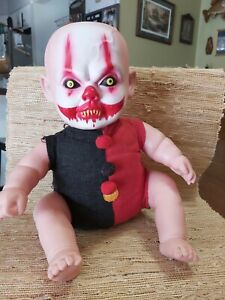 """2012 """"FUNNY BONE"""" Scary Clown Baby Doll Toy laughing Zombie Horror Vampire"""
