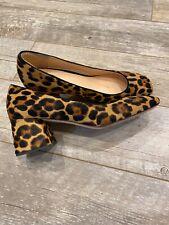 J Crew NIB Celia Block-Heel Pumps Leopard Calf Hair 6,6.5,7,9.5,10  #L3578 $198