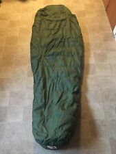 Vtg North Face Sleeping Bag Green Down Filled Brown Label 70's 80's