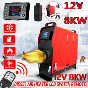 8KW Portable 12V Air Diesel Heater Tank LCD Silencer Caravan Motorhome Remote AU