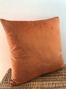 Double Sided Burnt Orange Soft Velvet Cushion Cover Home Decor Handmade 45 x 45