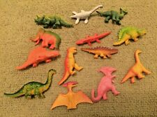 13 Vintage Rubber Dinosaur Toy Lot Collectible Small