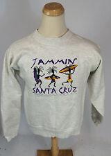 NOS Vintage 90s Santa Cruz California Jamaica Jammin Surf Skate Sweatshirt Tiki
