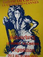 Affiche Galerie du Carlton Cannes 1970 / Schoneberg