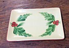 "GAIL PITTMAN SOUTHERN LIVING CHRISTMAS MEMORIES 8-1/4"" RECTANGULAR TRAY or PLATE"