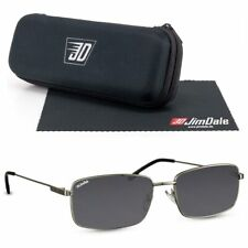 Jim Dale Sonnenbrille Metall Silber Schwarz getönt UV400 Markenbrille Herren