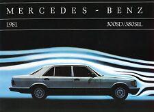 1981 Mercedes-Benz 300SD 380 SEL Deluxe Dealer Sales Brochure