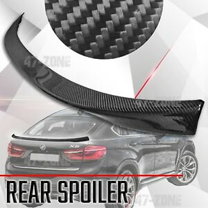 High Quality Black Real Carbon Fiber Rear Spoiler Wing For 2014-2017 BMW X6 F16