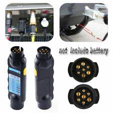 7 Pin Car Towing Plug Socket Tow Bar Light Wiring Electrical Circuit Tester 12V