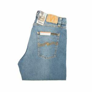 Nudie Jeans, Steady Eddie II, Pure Blue, Hellblau, Regular Tapered, 113101, Neu