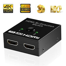 HDMI 2.0 HDTV Switch Switcher Splitter Bi-Direction Hub HDCP 2x1 1x2 In Out 4K