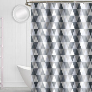 NEW Geometric Style Polyester Shower Curtain Bathroom Decor with Hooks 180X180cm