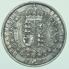 More details for 1887 victoria jubilee head halfcrown, british silver coin ef