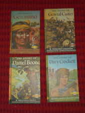 SIGNATURE BOOKS Lot GROSSET & DUNLAP The Story of GERONIMO CROCKETT CUSTER BOONE