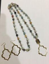 Long beaded with Gold necklace  & earrings Kendra + Chloe by Isabel J. Scott,