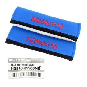 For Nissan Navara Np300 Juke March 1985 18 19 Set Seat Belt Cover Genuine Blue