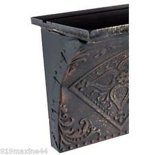 "36"" Black Pressed Tin Wall Vintage style home Decor, Beautiful shelf."