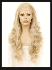 IMSTYLE Ash Blonde Lace Front Wig Long Loose Wavy Synthetic Hair IM12AB New Open