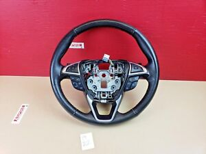 2015-2017 Ford Edge Black Leather Steering Wheel W/ Cruise Shifter Paddle OEM