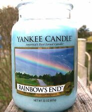 """Yankee Candle.""""RAINBOWS END"""" Rainbow's End ~ Large 22 oz. ~ WHITE LABEL ~ NEW!"""