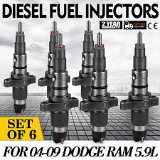 OEM Diesel Fuel Injectors For Dodge Ram 5.9L Cummins 5.9L 04-09 Set (6) Can