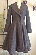 Mesdames 1940/50s Swing Style manteau d'hiver Rockabilly, Rock and Roll Fit and Flare