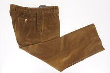 INCOTEX 100% Cotton Golden Brown Wide Wale Corduroy Slacks Pants - 36