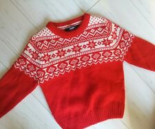 Baby Boys CHRISTMAS NATALE ROSSO CLASSICO Maglione 9-12 mesi