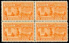 momen: Us Stamps #E13 Block of 4 Mint Og Nh Vf