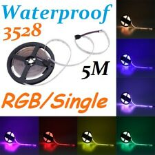 5M 3528 SMD RGB / Single Waterproof IP65 Flexible light strip 300LED Lamp DC12V