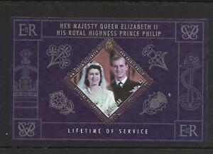 Gibraltar ( Lifetime of Service ) Souvenir Sheet Mint Never Hinged