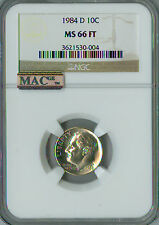 1984-D ROOSEVELT DIME NGC MAC MS-66 FT PQ SPOTLESS .