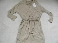 CLOSED stylisches Kleid beige Fledermausärmel Lyocell beige Gr. M NEU NP 239 519