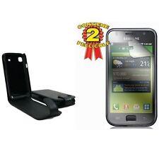custodia eco pelle SAMSUNG GT-I9003 GALAXY S SCL black + 2 pellicole protettive