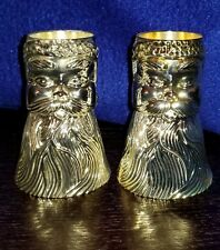 """International Silver 3.5 """" Silver Plated Santa Claus Candle Stick Holders (Pair)"""