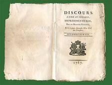 Discours à lire au Conseil en présence du Roi (accord état-civil protestants)